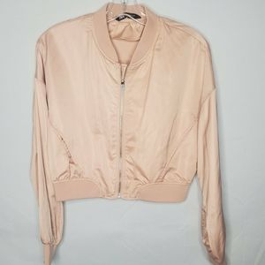 3 for $30  Pink satin bomber coat